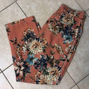 Zara floral slacks!!